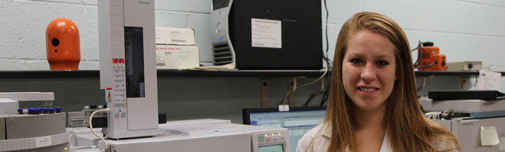 Mary Bouchard '16 did an internship at the Miami Valley Regional Crime Lab.