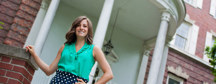 Amanda Cotleur'14 studied English and was hired by a public relations firm.