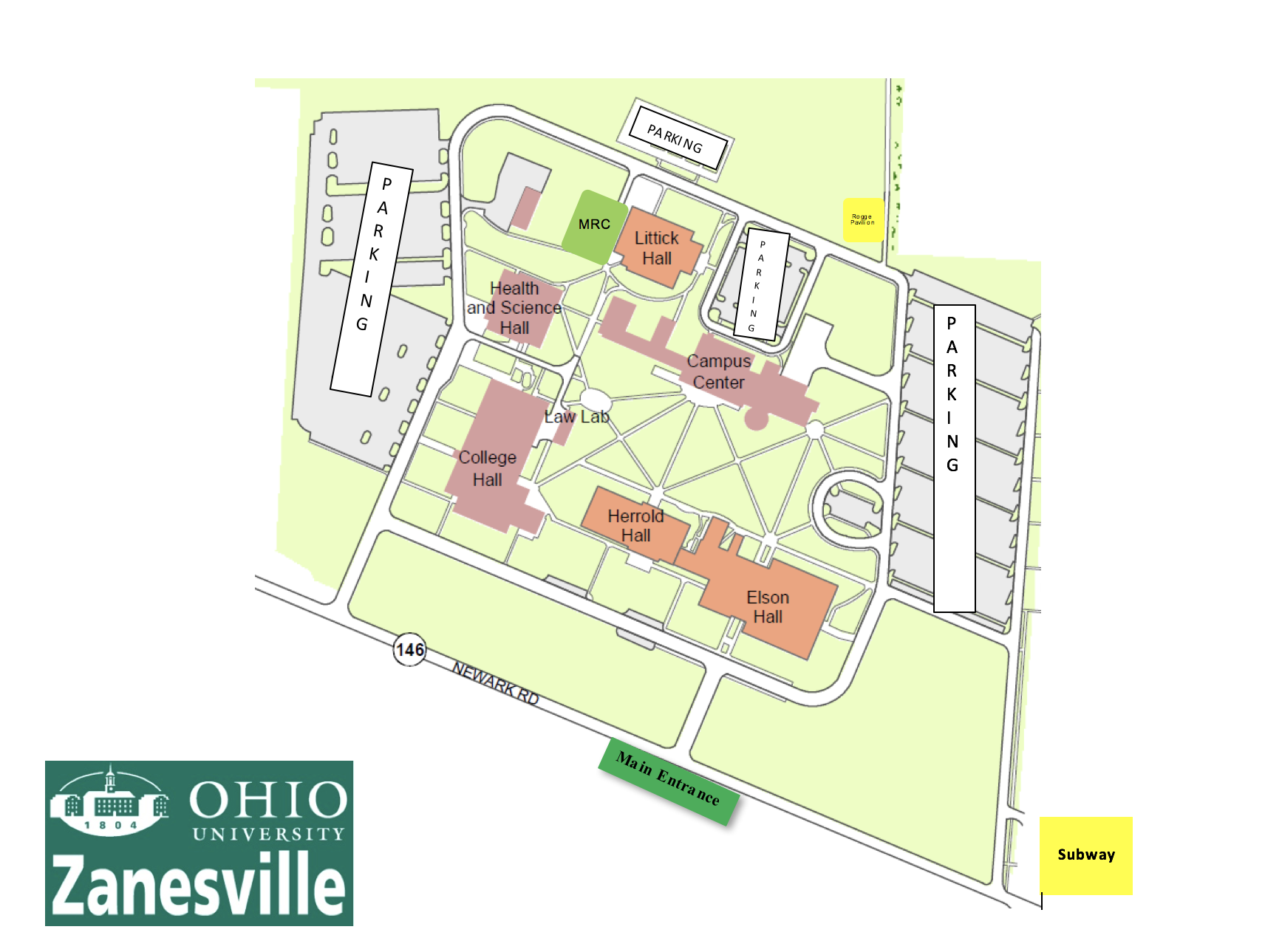 OUZ Campus Map