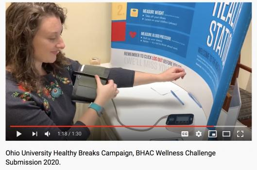 Employee taking blood pressure, thumbnail of video